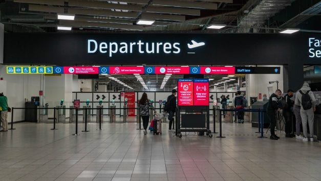 11 charged after mass brawl at Luton Airport